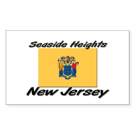 Seaside Heights New Jersey Rectangle Sticker