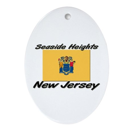 Seaside Heights New Jersey Oval Ornament