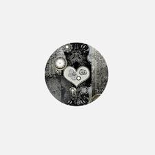Steampunk, wonderful heart Mini Button
