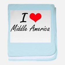 I Love Middle America baby blanket