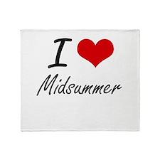 I Love Midsummer Throw Blanket