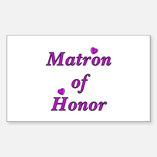 Matron of Honor Simply Love Sticker (Rectangle)