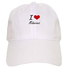 I Love Midwives Baseball Cap