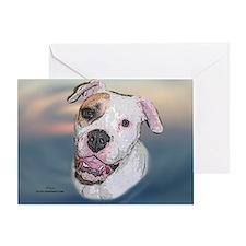 Rosie, Am. Bulldog Greeting Card