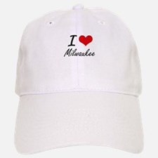 I Love Milwaukee Baseball Baseball Cap