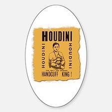 Houdini Handcuff King Oval Decal