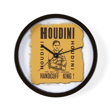 Houdini Handcuff King Wall Clock