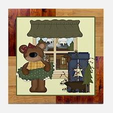 CABIN BEAR Tile Coaster