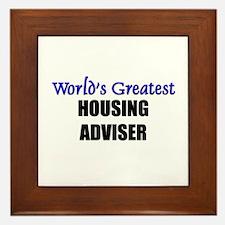 Worlds Greatest HOUSING ADVISER Framed Tile