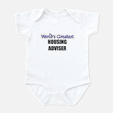 Worlds Greatest HOUSING ADVISER Infant Bodysuit