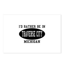 I'd Rather Be in traverse Cit Postcards (Package o