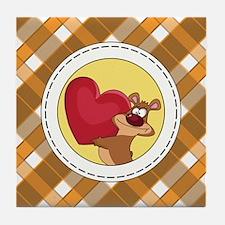 BEAR WITH HEART Tile Coaster
