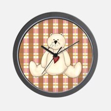 BEAR WITH HEART Wall Clock