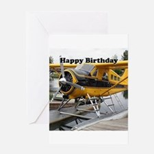 Happy Birthday: Beaver float plane Greeting Cards