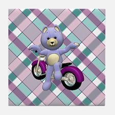 BIKER BEAR Tile Coaster