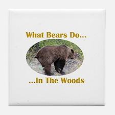 What Bears Do Do Tile Coaster