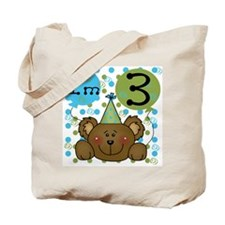 Bear 3rd Birthday Tote Bag