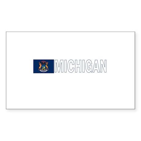 Michigan Rectangle Sticker