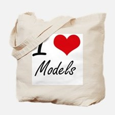 I Love Models Tote Bag