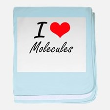 I Love Molecules baby blanket