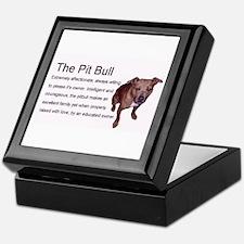 Loving Pit Bull Keepsake Box
