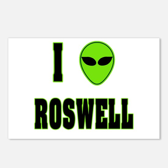 I Love Roswell Postcards (Package of 8)