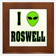 I Love Roswell Framed Tile