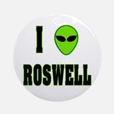 I Love Roswell Ornament (Round)