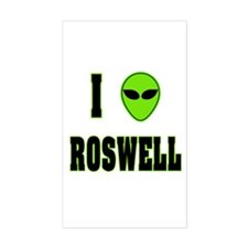 I Love Roswell Rectangle Decal