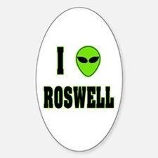 I Love Roswell Oval Decal