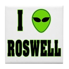 I Love Roswell Tile Coaster