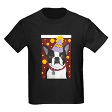 Boston terrier tea party T