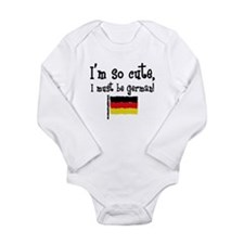 So Cute German Long Sleeve Infant Body Suit