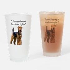 Cool Airedale terrier Drinking Glass