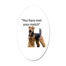 Cool Airedale Oval Car Magnet