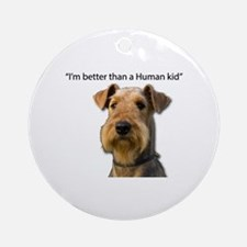 Airdale terrier Round Ornament