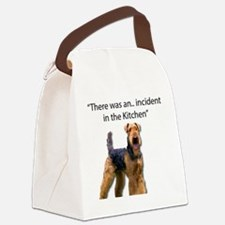 Funny Airedale Canvas Lunch Bag