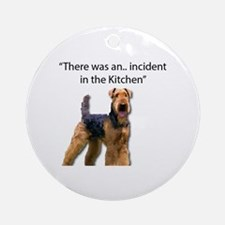 Airedale terrier Round Ornament