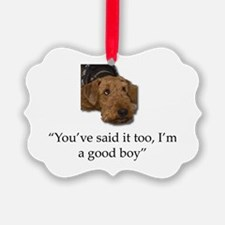 Funny Airdale terrier Ornament