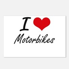 I Love Motorbikes Postcards (Package of 8)