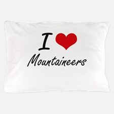 I Love Mountaineers Pillow Case