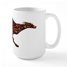Greyhound Single Runner Large Mug/Coffee Beans