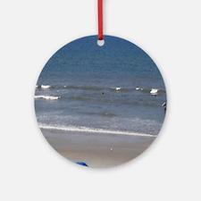 Daytona Beach Surf Ornament (Round)
