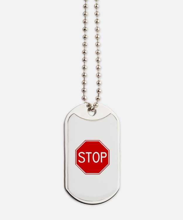 Stop Sign Dog Tags