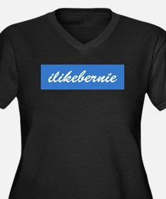 ilikebernie Women's Plus Size V-Neck Dark T-Shirt