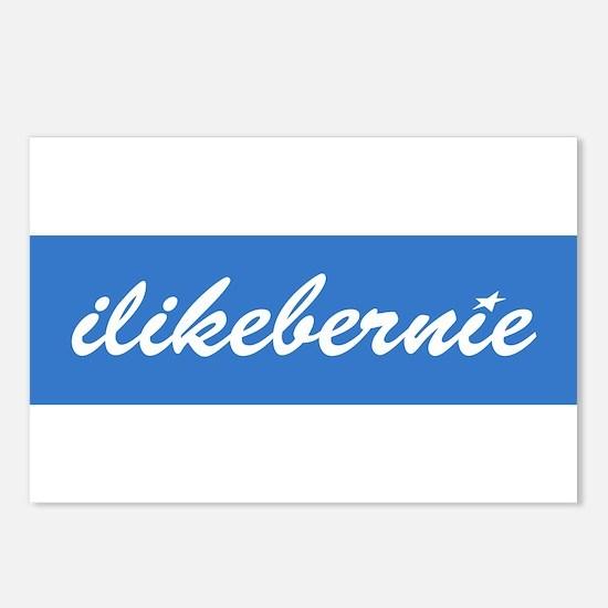ilikebernie script white Postcards (Package of 8)
