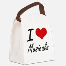 I Love Musicals Canvas Lunch Bag