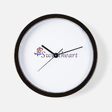 Sweetheart Flower Wall Clock