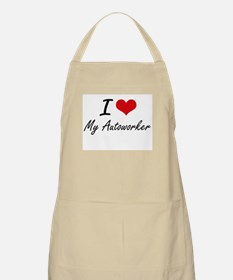 I Love My Autoworker Apron