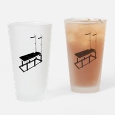 Weightlifting Bench Drinking Glass